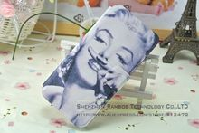 Sexy Marilyn Monroe Fashionable Book Leather Stand Wallet Flip Folio Case Mobile Phone Cover for iPhone 5 5S with ID Card Slot