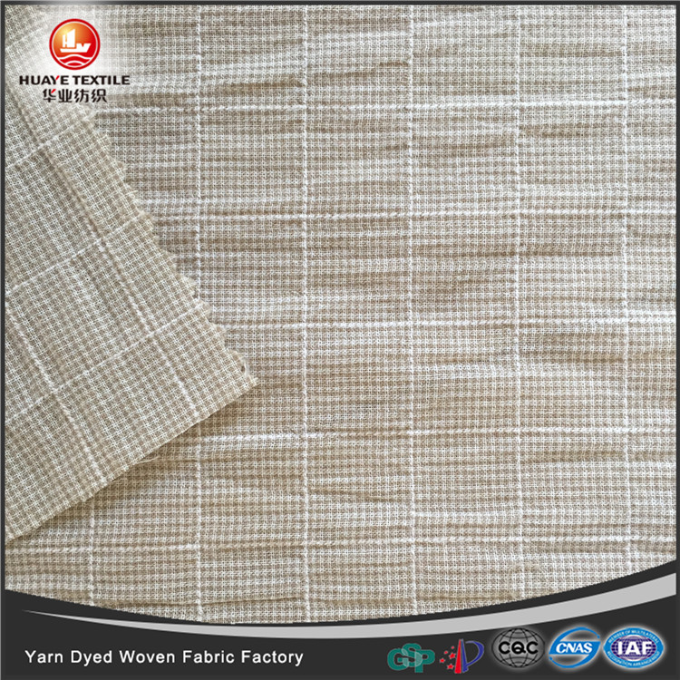 In-stock yarn dyed <strong>poly</strong> cotton woven crepe fabric for fashion shirt