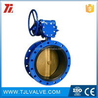 Centric type double flange type a manual-operated wafer butterfly valve resilient seat low price