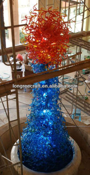 Decorative Christmas Tree Blown Glass Sculpture