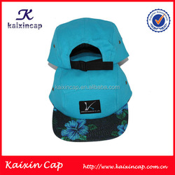 wholesale high quality customize 100% cotton 5 panel camp caps