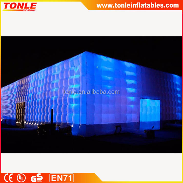 Best sale large event party lighting inflatable tent with led light for sale