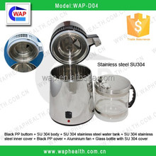 WAP-health 4L stainless steel portable electric automatic laboratory water distiller