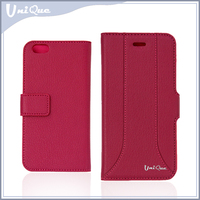 2015 wholesale new products mobile accessories card slot mobile phone stand PU leather case cover for samsung galaxy s6