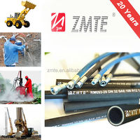 ZMTE Factory EN 856 4SH Stainless Steel Wire NBR cover / Wie Spiral Hose