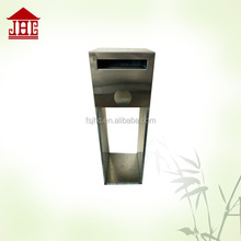 Foshan wholesale metal standing modern mailbox|special letterbox outdoor