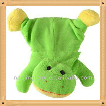 cute frog hot water bottle toy cover