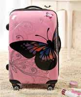 Various colour suitcase parts trolly bag luggage set