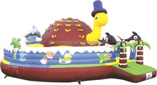 PVC Commercial outdoor playground jumping bouncy castles inflatable bouncer for sale