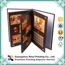 large cheap hardcover printing fabric guest catalogue book
