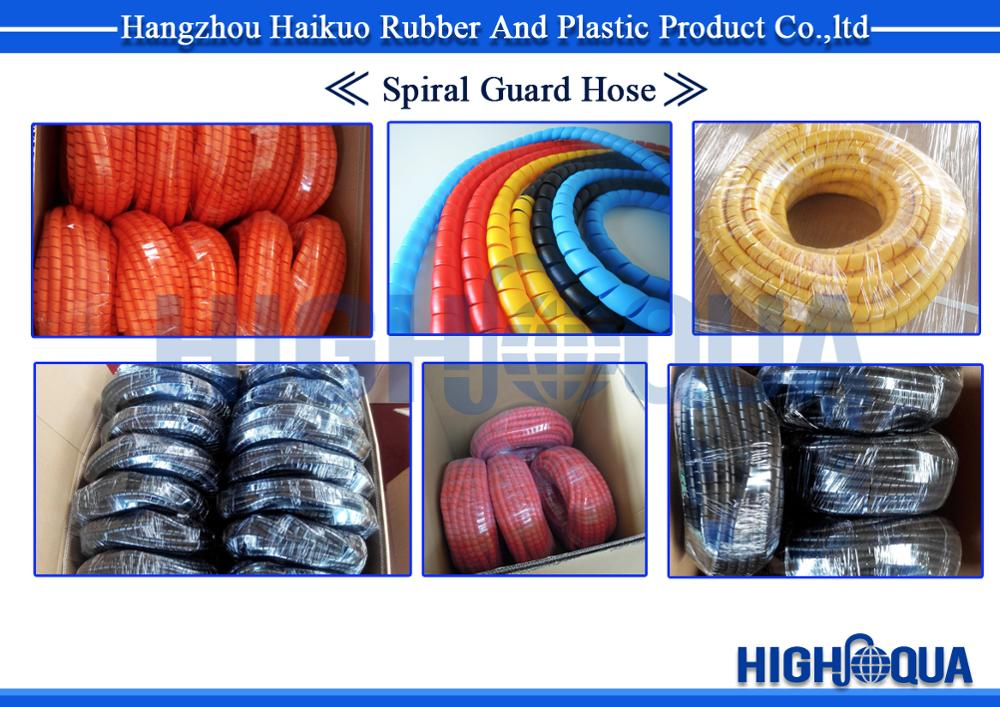 Flexible Hydraulic Hose Plastic Coiled Spiral Hose Protective Guard And Sleeve