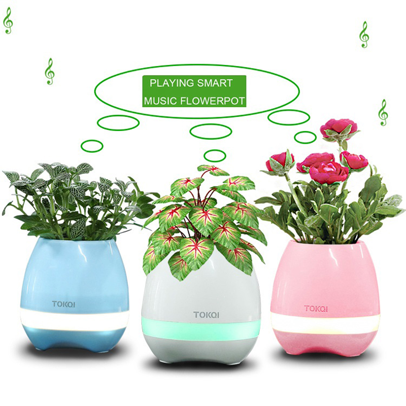 Best Selling Music Vase Smart Music Flowerpot Wireless Bluetooth Speaker K3 Intelligent Plant Piano Music with Colorful LED