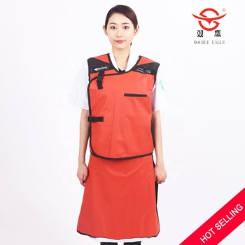 Good quality PU material  medical x-ray radiation protective lead apron set  0.35mmPb lead suits