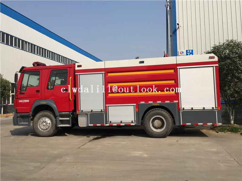 High Quality 4*2 Sinotruk Fire Engine Manufacture Dry Powder and Foam Fire Truck for Myanmar