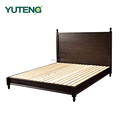 Sweden style solid wood double bed