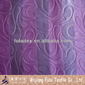 100% Polyester Embossed Suede Strip Blackout Fabric