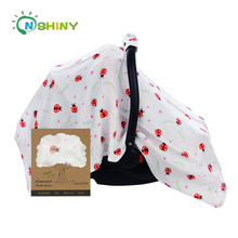 New design Cute insect baby care product muslin infant car seat cover
