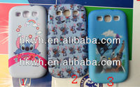 Wholesale i9300 Case For Samsung Galaxy S3 Silicon and Plastic Hard Cover 3 in 1 Phone Protector Shell