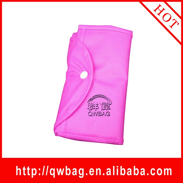 Promotional reusable foldable nonwoven shopping bags with snap button