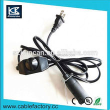 Free samples power cord for lamp spt lamp cord,2-Prong US AC Power Plug for Lighting KC--145