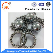 "China Factory Yuanke 1/4"" 3/16"" 1/8"" economical Bicycle/motorcycle/Cycle carbon steel ball for sale"