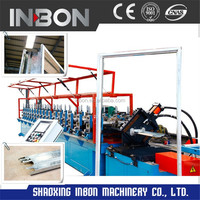 Aluminium steel door frame and window making machine , roll forming machine for cliscoe window frame,automatic roll forming line