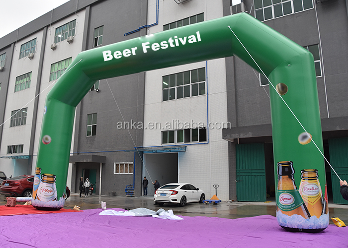 Custom inflatable gate shape entrance arch inflatable beer arch for welcome