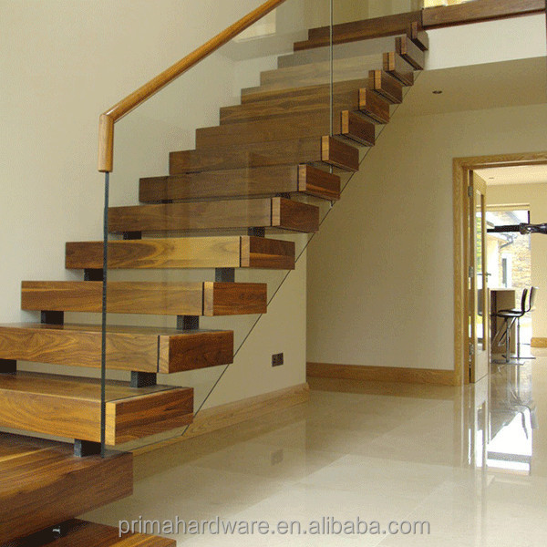 modern house acacia wood stair treads for kit steel stairs