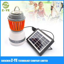 Insect Zapper LED Camping Light Rechargeable Tent Lantern with Bug Zapper Function USB Charging and Solar Charging for Outdoor