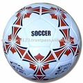 White Soccer ball, Promotional Quality, 32 panels, Size 5