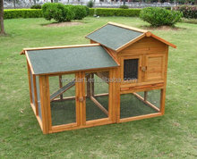 Outdoor Large Rabbit Hutch Wooden Bunny Wire Cage With Tray