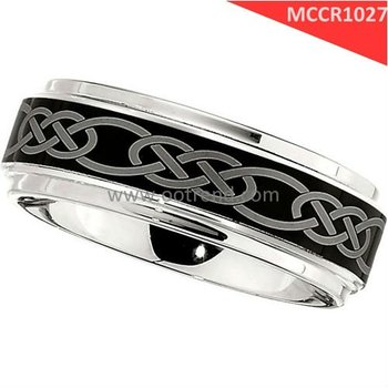 Celtic style cobalt chrome rings for men,comfort fit human engineering design