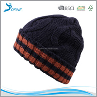 Factory price new fashion custom crochet cable knit hat Ski Cap Snowboard women hat
