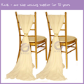 BS00352 Made in China Wedding decoration fancy chiffon chair cover