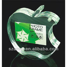 custom fruit/apple shape tabletop acrylic magnetic photo/picture frame/block