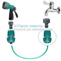 "PP 3/4"" water hose quick connector"