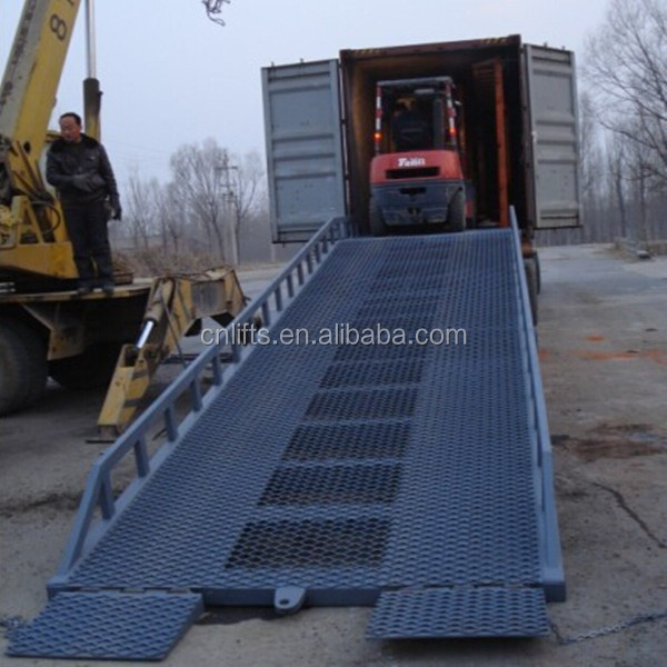 10 tons load capacity adjustable yard ramp fixed hydraulic dock leveler