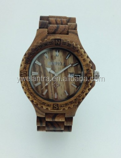 2015 ECO-friendly new trendy good selling wooden watch for man & lady, water resistant