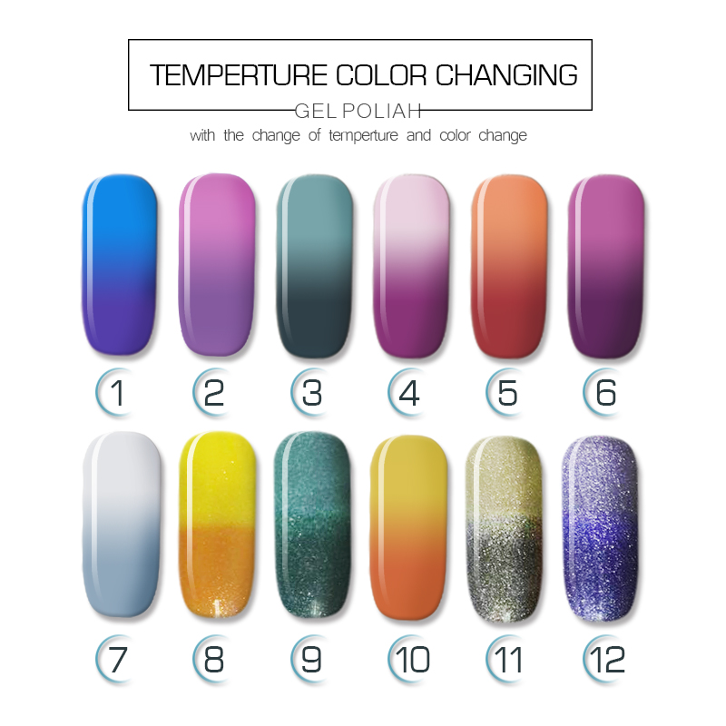 2018 new products gel nail polish 15ML thermal temperature changing color gel nail polish