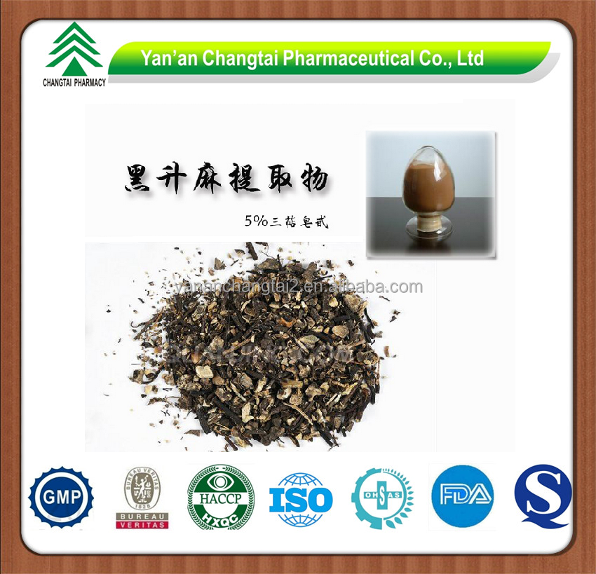 GMP factory supply Herb Black Cohosh Extract powder Triterpene