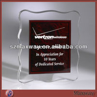 Memorial Acrylic Paperweight;Acrylic Block Paperweight;Clear Perspex Plate