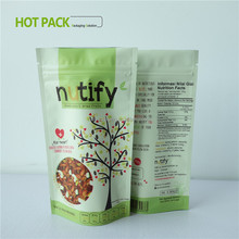 colorful stand up food pouch with zipper small clear plastic zip lock packaging bag