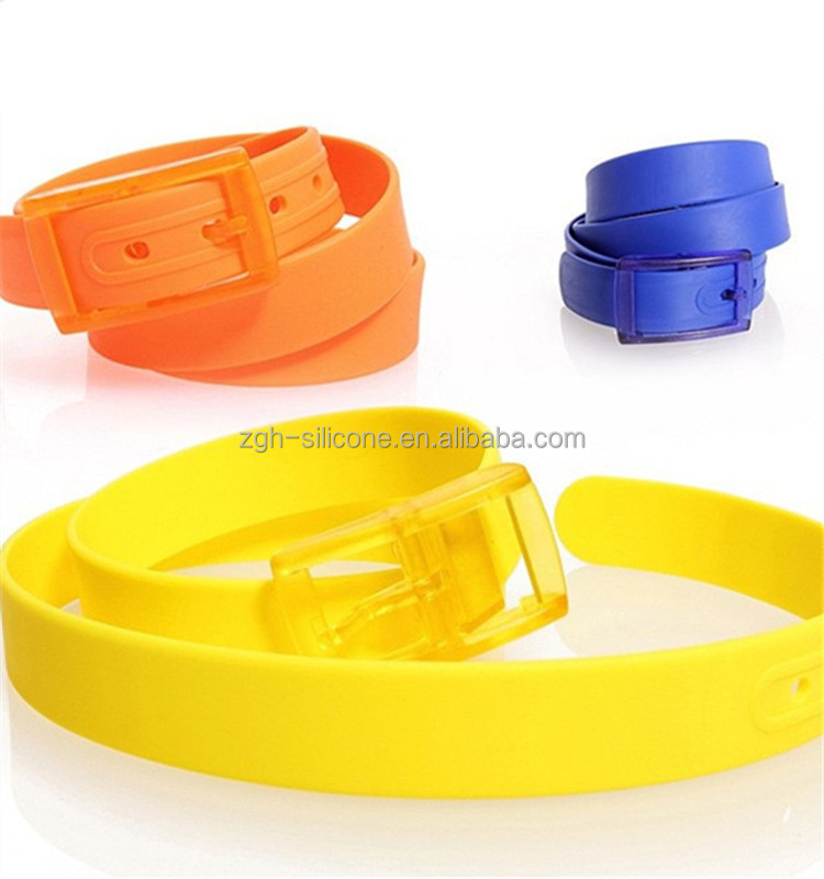 Colorful silicone rubber belt promotion candy jelly silicone belt