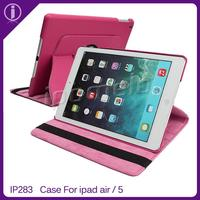 Top hot sale alibaba leather case for apple ipad air/ipad5 tablet case