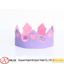 New design wholesale eco friendly baby felt princess crown