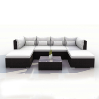 Alibaba low price outdoor rattan sofa set furniture from China for RH234