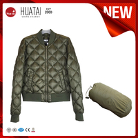 Foldable Lightweight Olive Bomber Down Sports Jacket
