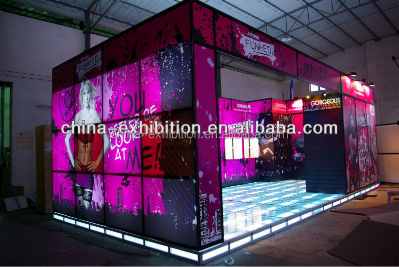 Hot sale trade show fashion exhibit booth design