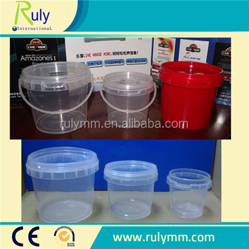 small fishing plastic bucket with handle and lid