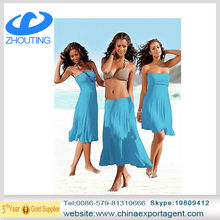 Many tees in Europe and the United States beach dress 2014 explosion elegant strapless dress that wipe a bosom